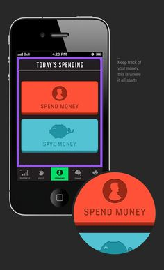 Vice iPhone App on the Behance Network #user #infographics #infographic #interface #iphone #app #money #buttons