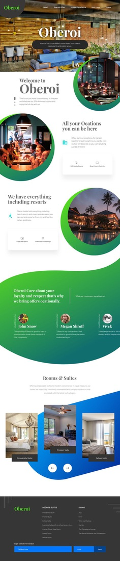 Oberoi Hotel Redesign on Behance