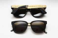 (218) Fancy Hieroglyphics Francis Sunglasses by Super #hieroglyphics #sunglasses #gold #fashion #style