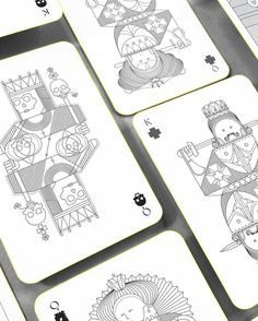 Whimsical Playing Arts #playing_cards #cards #design #illustration #minimalist