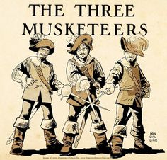 3_musketeers_low.jpg (JPEG Image, 830x797 pixels) #three #musketeers #illustration #the