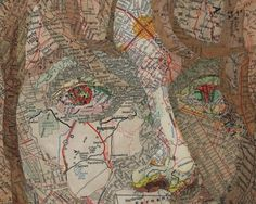 texas | Search Results | Colossal #face #collage #map
