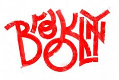 Brooklyn & Queens NY on the Behance Network #red #typography