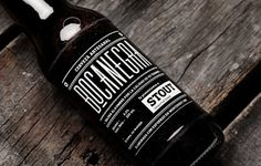 BOCANEGRA | MANIFIESTO FUTURA #beer #bottle #packaging #drink #black #label #stout