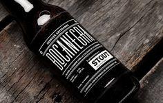 BOCANEGRA   MANIFIESTO FUTURA #beer #bottle #packaging #drink #black #label #stout