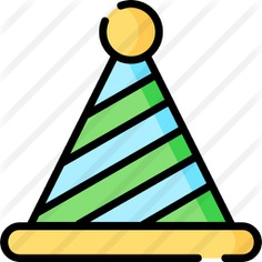 See more icon inspiration related to fun hat, party hat, birthday and party, celebration, fun, hats, birthday, fashion, hat and party on Flaticon.