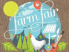 Dribbble - Farm Fair by James Gibbs #guitar #typogra #fair #illustration #chicken #farm