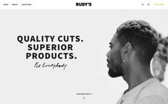 Rudy's barber shop webdesign website service award new minimal typography black and white new cool trend modern best in design inspiration m