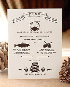 yellow owl workshop: Martha Stewart Weddings #wedding #menu #design #graphic