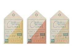 Hang Tags #california #hang tags #mid #century modern #la #clothing co