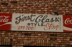 All sizes | First Class Style Shop | Flickr - Photo Sharing! #lettering #script #sign #painted #hand