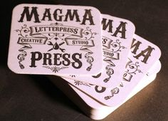 visual sundae #magma #coasters #letterpress