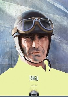 F1 Heroes - Portraits on the Behance Network #racing #car #fangio