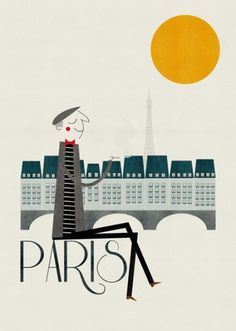 Illustrated cities : Cosas mínimas #paris #blanca #group #gmez #the #illustration #poster #art