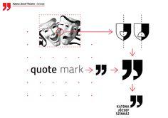 Katona József Theatre on Behance #logo #identity