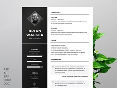 Free Multi File Format Resume Templates with Clean Design