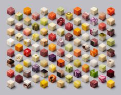 cubes, minimalist, abstract, food, pattern