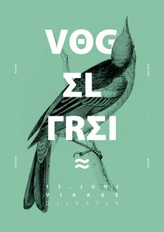 Vog el frei #illustration #type #cover