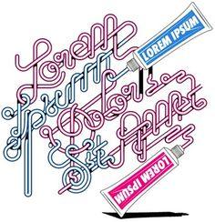 Lorem Ipsum Dolor por Alex Trochut | Blog Vecindad Gráfica Diseño Gráfico #ipsum #trochut #toothpaste #lorem #typography