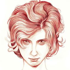 Illustrated Portraits by http://romangm.com/ #woman #illustrated #illustration #portrait #female