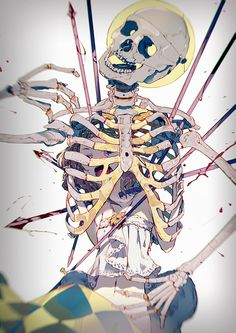 NOT THE END by el zheng on deviantART #skeleton #anime