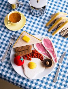 Woolly full english david sykes photography #illustration #design #knitting
