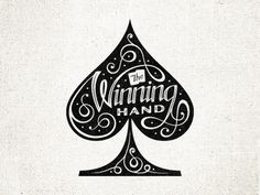 The_winning_hand_-_spade #script #fancy