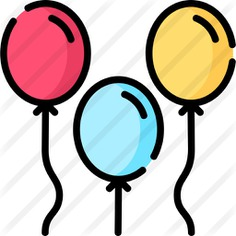 See more icon inspiration related to balloon, birthday and party, balloons, celebration, entertainment, decoration, birthday and party on Flaticon.