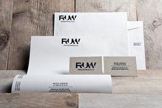 RUW on the Behance Network #wood #concept #identity #ruw #logo