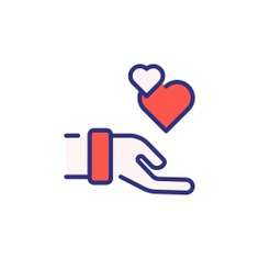 See more icon inspiration related to love and romance, hands and gestures, Solidarity, loyalty, charity, donation, heart and love on Flaticon.