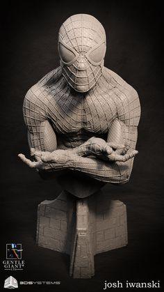 ArtStation - The Amazing Spider-Man 2: bust, Josh Iwanski