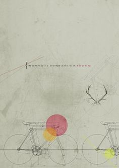 Two Wheel Dreams #deer #design #graphic #poster #and #dog
