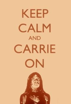 FFFFOUND! | Keep Calm and Carrie On #carrie #and #humour #calm #on #illustration #keep