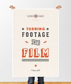 ALFREDO GARCIA PRODUCTIONS on Behance #poster #type #branding #film