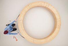 chris kabel: wood ring bench #furniture #product design