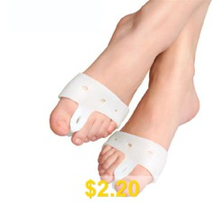 1 #Pair #of #New #Valgus #Orthosis #Foot #Care #Bone #and #Thumb #Orthosis #Scaffold #Silicone #Big #Toe #Separator #- #WHITE