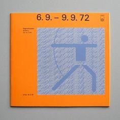 Otl Aicher 1972 Munich Olympics - Programmes #otl #aicher