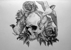 tumblr_lqonj7h3eK1qi38s8o1_500.jpg (500×352) #illustration #pencil #black #skull