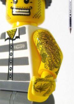 Pilot Extrafine: Lego Tattoos | NiceFuckingGraphics! #lego #advertisement #pilot #tattoo #extrafine
