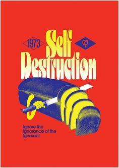 The Art of Jeremy Pettis - mashKULTURE #ignorance #self #design #destruction #pettis #logo #jeremy #typography