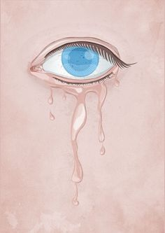 Ivan Afandi: Illustration, UI Elements, Web Design | Illustration #melted #pain #eyespeaking #ivanafandi #eyes #texture #blueeye #suffer #skin #sad