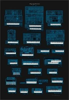 #tron #collection #print #screen #poster #blue #moog