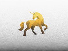 Golden Unicorn by simc #logo