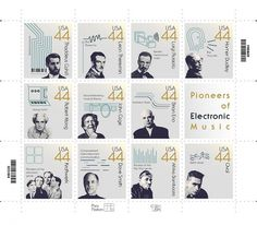 Stamps | Pioneers of Electronic Music #techno #electronica #stamps #eno #kraftwerk #music #moog #electronic