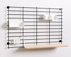 Loopholes by Atelier Belge #interior #black #minimalism #furniture #shelf