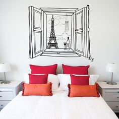 Paris Window Wall Decal