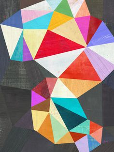 Two Ems Geometric Abstract #illustration #color #pattern