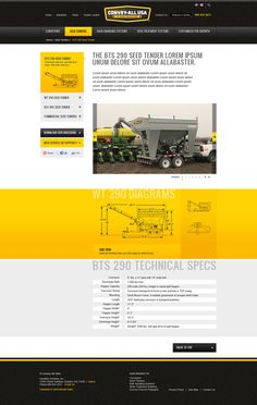 Convey-All USA Website Design on Behance #industrial #web #farm