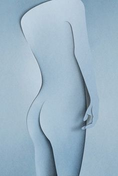 Eiko Ojala » Naked #naked #paper art #paper cut