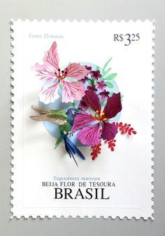 paper cut stamps